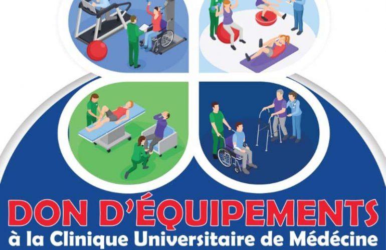 Don d'équipements à la Clinique Universitaire de Médecine Physique et de Réadaptation du CNHU HKM